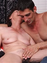 Stephanie is near the granny age and in this live scene she gets her cock fix from a stud live