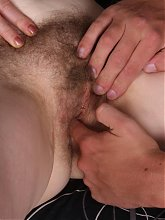 Playful granny Maria sucks a cock with gusto and got her cooter fingered then screwed with a cock