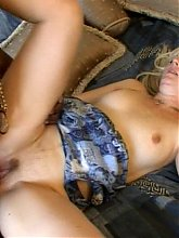 Blonde wife Kami got herself a black fuck buddy and takes in his monster cock in her mouth and pussy
